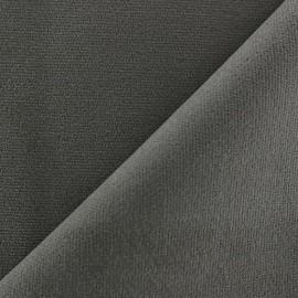 ♥ Coupon 220 cm X 148 cm ♥  Tissu velours ras élasthanne gris