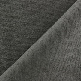 Short elastane velvet fabric - grey x10cm