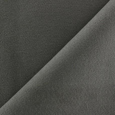 Short elastane velvet fabric - grey x10cm