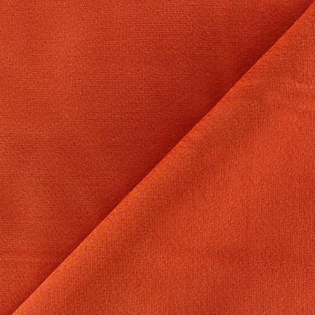 Short elastane velvet fabric - orange x10cm