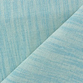 Bonded Canvas Fabric - lurex Chariota light blue x 10cm