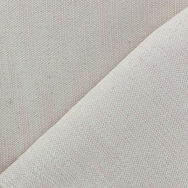 ♥ Coupon 100 cm X 140 cm ♥ Bonded Canvas Fabric - lurex Chariota pink