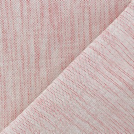 Bonded Canvas Fabric - lurex Chariota red x 10cm