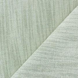 Tissu toile guttée lurex Chariota grège x 10cm