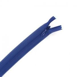 Concealed 4 mm zip - bugatti blue