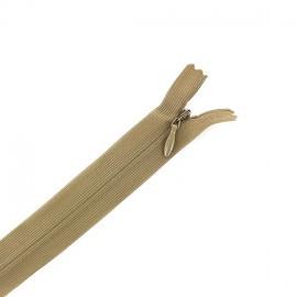 Concealed 4 mm zip - beige