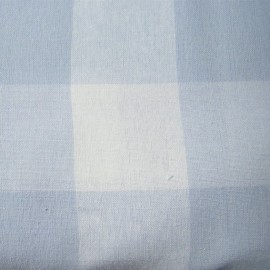 Very Big checked Vichy fabric - sky x 10cm