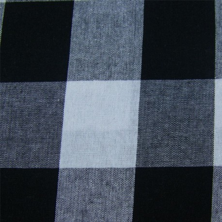 Very Big checked Vichy fabric - black x 10cm