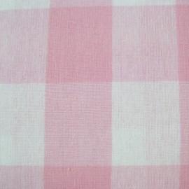 Vichy très grands carreaux rose