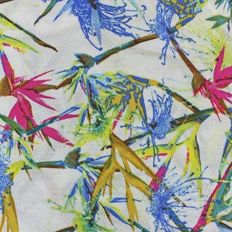 Tropic Viscose Fabric - Fuchsia x 10cm