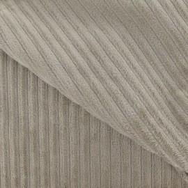 Tissu velours minkee à côtes taupe x 10cm