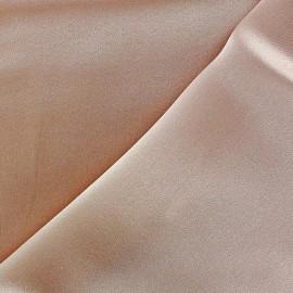 Tissu Crêpe satin 100% soie rose poudré x 50 cm