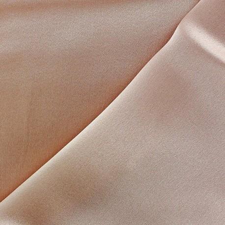 100% Silk Satin Crepe Fabric - Powder Pink x 50cm