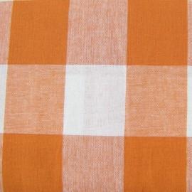 Tissu Vichy très grands carreaux orange x 10cm