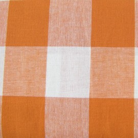 Very Big checked Vichy fabric - orange x 10cm
