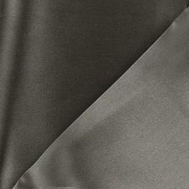 Tissu Crêpe satin 100% soie gris cendre x 50 cm