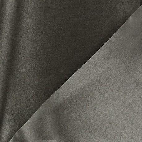 100% Silk Satin Crepe Fabric - Grey x 50cm