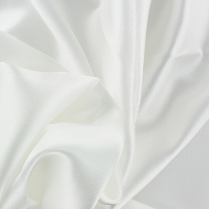 tissu cr pe satin 100 soie blanc x 50 cm ma petite mercerie. Black Bedroom Furniture Sets. Home Design Ideas