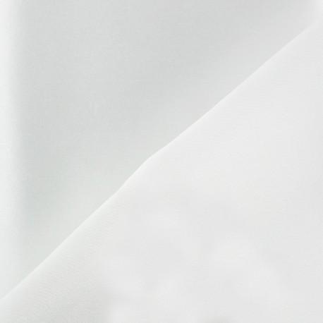 100% Silk Satin Crepe Fabric - White x 50cm