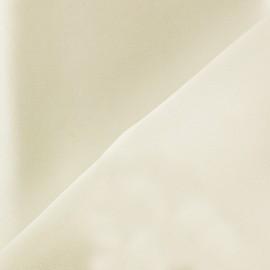Tissu Crêpe satin 100% soie écru x 50 cm