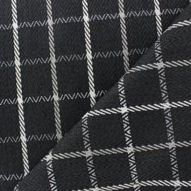 Tissu Regina gris anthracite x 10cm