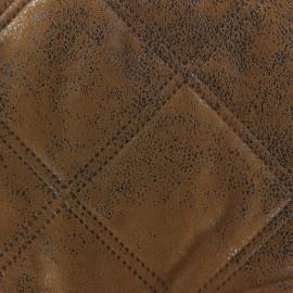 Tissu matelassé Antic marron x 10cm