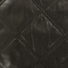 Antic Quilted Fabric - Black x 10cm