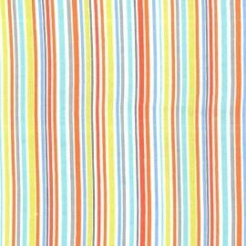 Tissu Flanelle Slender Stripe - Bleu  x 10cm
