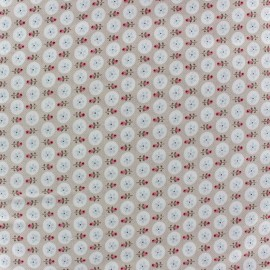 Baby flower Twill Cotton Fabric - Beige x 10cm