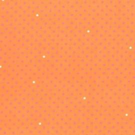 Tissu doublure Pin Dot Corail x 10cm