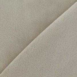 Tissu velours minkee doux ras beige x 10cm