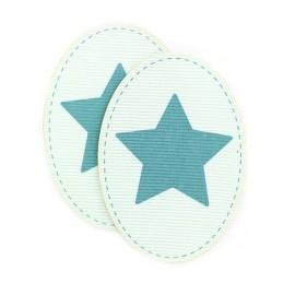 Coudières Genouillères étoile bleu délavé /acqua