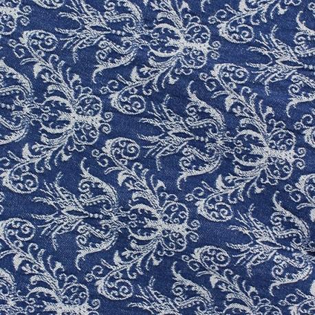 tissu toile aspect jean baroque denim x 10cm ma petite. Black Bedroom Furniture Sets. Home Design Ideas