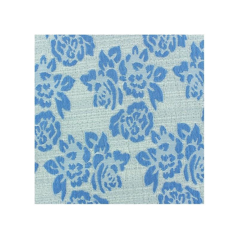 tissus pas cher tissu damass floral bleu. Black Bedroom Furniture Sets. Home Design Ideas