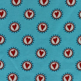 Tissu jersey Little Hearts taupe  x 10cm