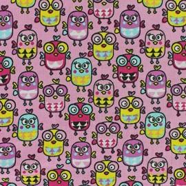 Jersey Fabric Pippa the bird - pink x 10cm