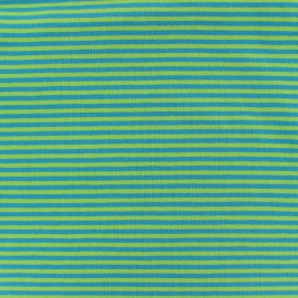 Tissu jersey rayures 3 mm Anis x 10cm