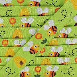 Ruban   Happy Bees anis