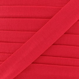Bias binding, Jersey - desire red