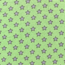 Little Stars Jersey Fabric - Green x 10cm