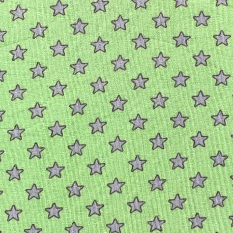 Tissu jersey Little star fond Vert x 10cm