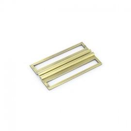 Metal interlock buckle Amalia 64 mm - golden
