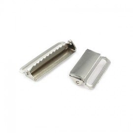 Metal Buckle for Suspenders - Silver