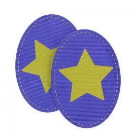 Coudières Genouillères étoile bronze / violet velours
