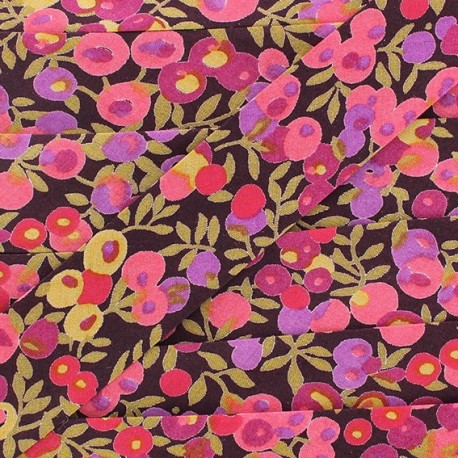 Bias binding, Liberty, Wiltshire x 20 mm - dark purple