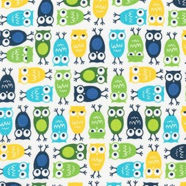 Tissu Urban Zoologie Minis Owl Sky x 10cm