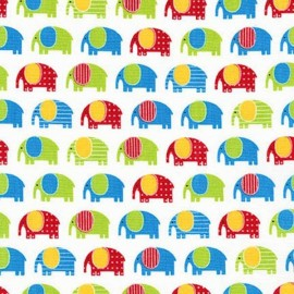 Urban Zoologie Fabric Minis Elephant - Primary x 10cm
