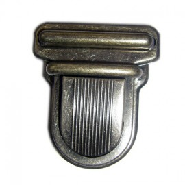 Clip attachment for schoolbag 25 mm - antique brass