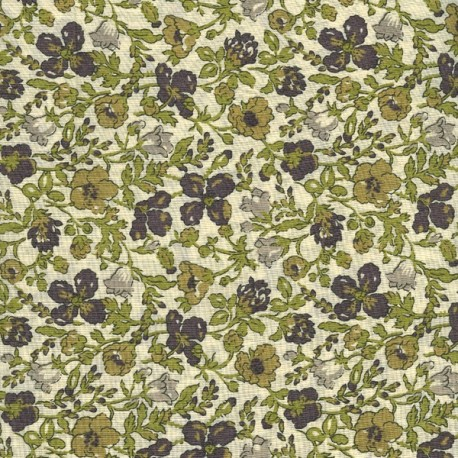 Liberty Meadow F fabric - green x 10cm - Ma Petite Mercerie
