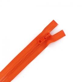 Fermeture éclair séparable synthétique orange
